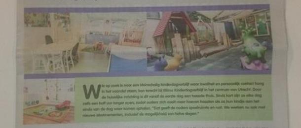 Ellimo weer in de krant, zelfs voorpagina!